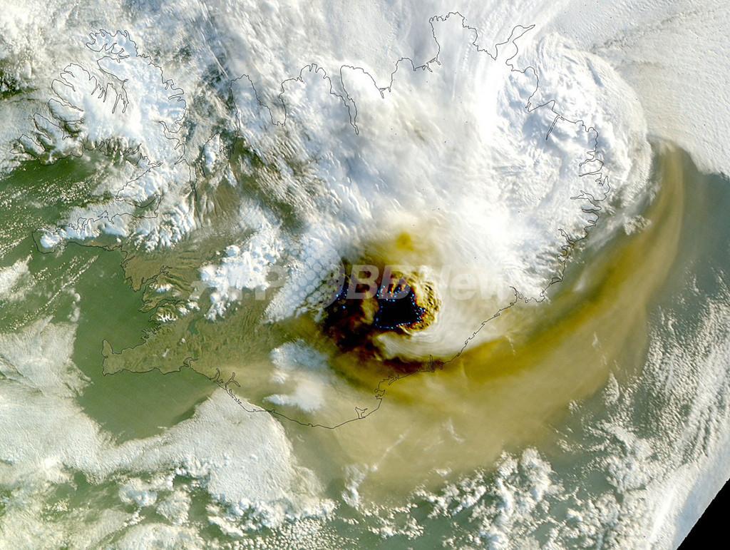 グリーンランドの空域を一部閉鎖、アイスランド火山噴火