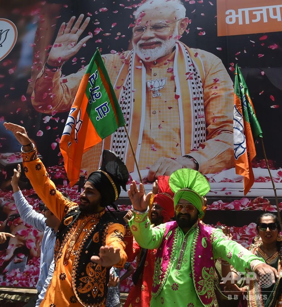 インド総選挙、モディ首相率いる与党が勝利宣言