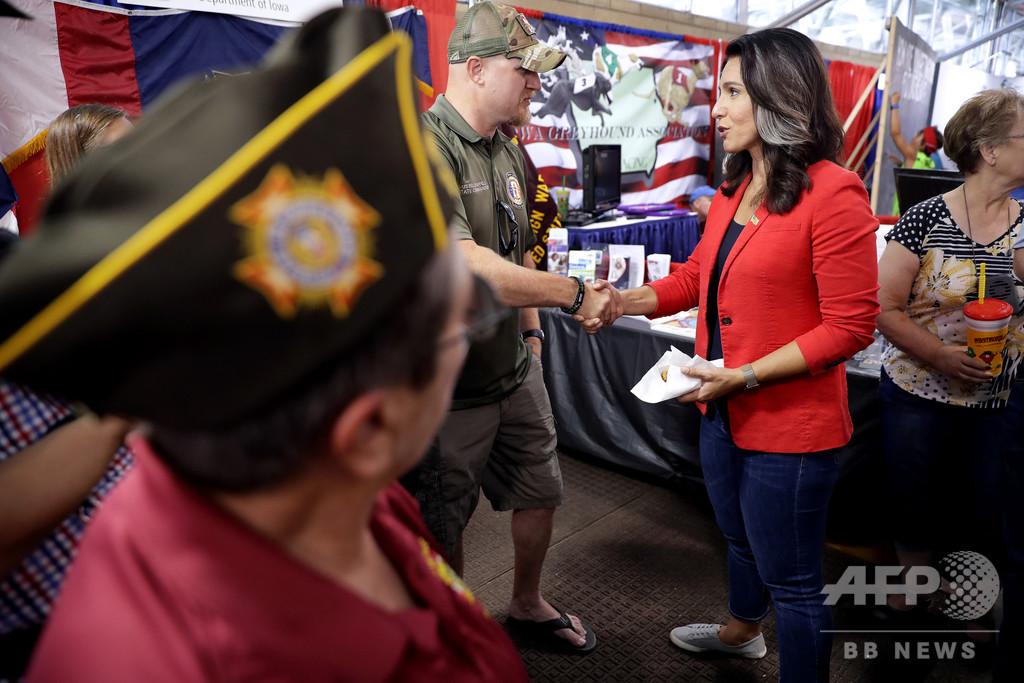 米大統領選の民主党候補ガバード氏、軍事演習参加のため選挙活動を一時休止
