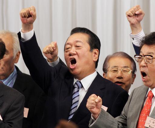 「日本変えるラストチャンス」、小沢氏が民主党代表に3選