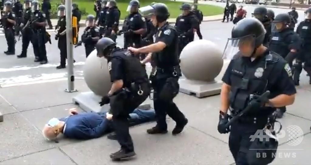 警官によるデモ参加者への暴力、相次ぐ映像に怒り 米国