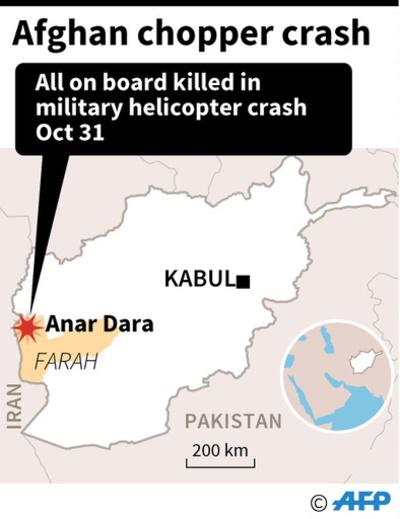 アフガン軍ヘリが悪天候により墜落、25人死亡 タリバンは撃墜と主張