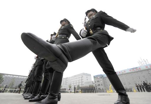 人民解放軍、儀仗隊の訓練風景 中国