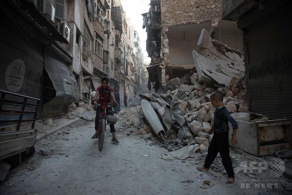 シリア・アレッポで反体制派に空爆、停戦は破綻の瀬戸際