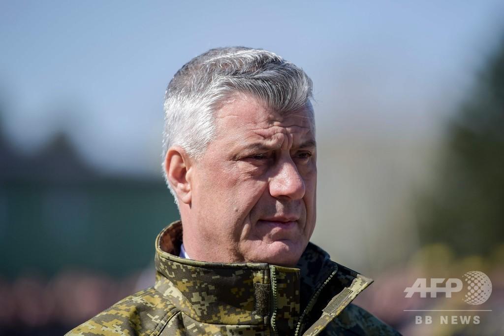 コソボ大統領、戦争犯罪で起訴 90年代の紛争めぐり