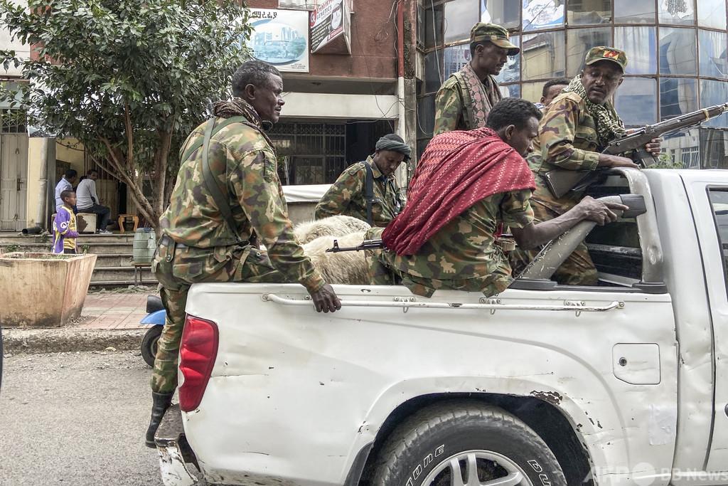 戦闘続くエチオピア北部、1万人超が隣国スーダンに避難 兵士の姿も