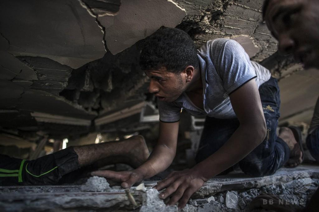 イスラエル「人道的停戦」から数分後、空爆で子ども1人死亡