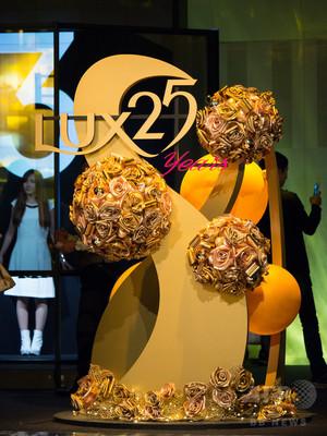 来場者がデジタルアート映像に、LUX25周年記念イベント開催