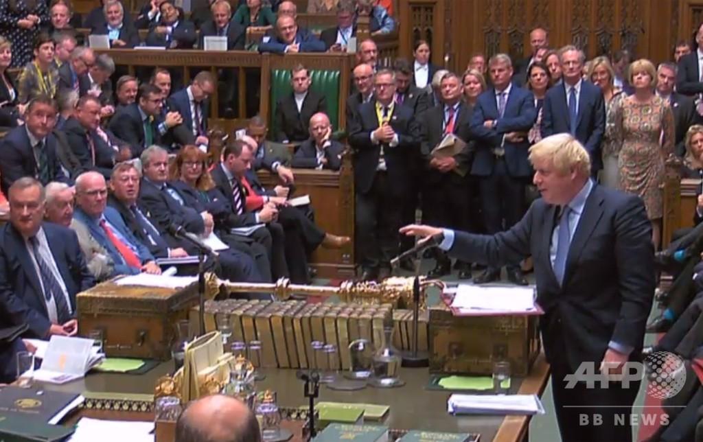 英首相に打撃 下院がEU離脱計画と総選挙を拒否