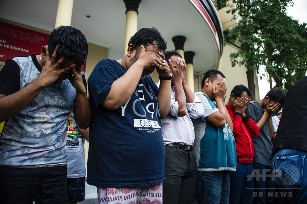 同性愛者のパーティー開催で8人逮捕、インドネシア