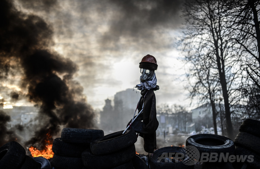 「私は死にかかっている」、ウクライナのデモ支援者がツイート