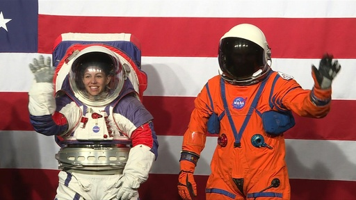 動画:NASA、月面着陸計画の宇宙服公開 可動性向上