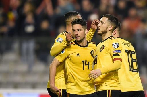 ベルギーが欧州選手権予選初戦で勝利、アザール2得点