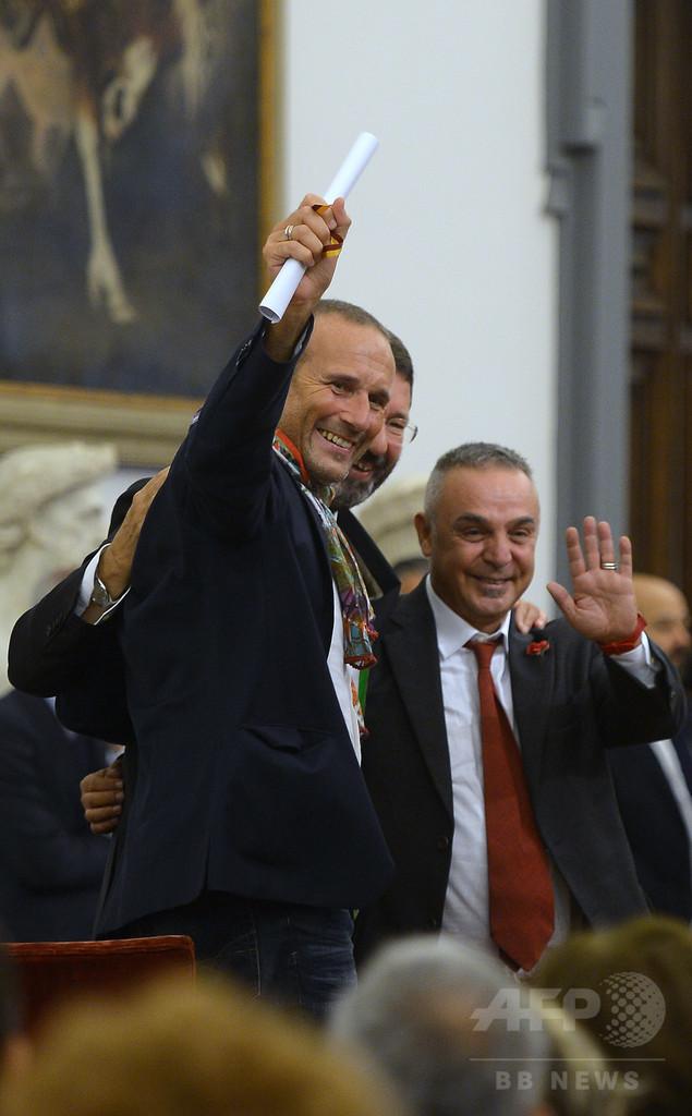 ローマ市長、同性婚認知を強行で政府と対立