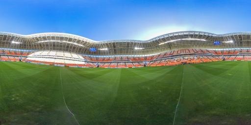 【360°パノラマ写真】ロシアW杯、日本対コロンビア戦の会場モルドビア・アリーナ