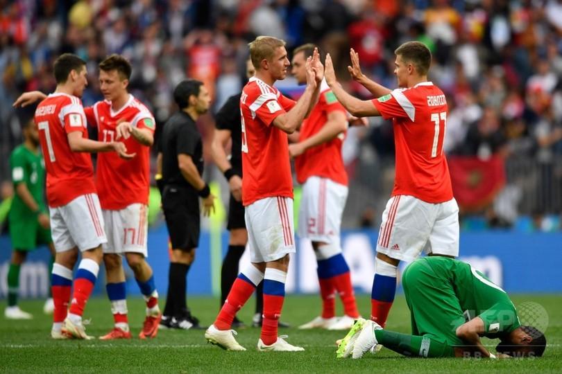 【写真特集】W杯開幕戦、開催国ロシア対サウジアラビア