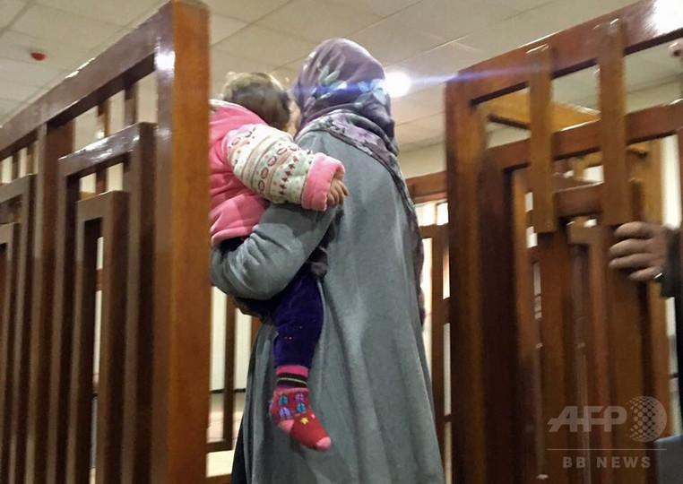 イラク裁判所、フランス人の女に終身刑 ISメンバーと断定