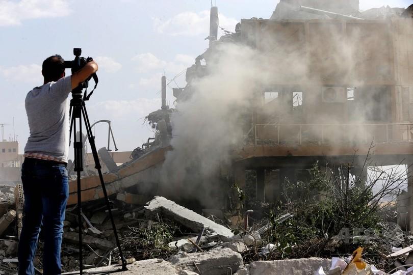 米英仏の空爆で破壊の研究施設、職員は化学兵器の製造を否定 シリア