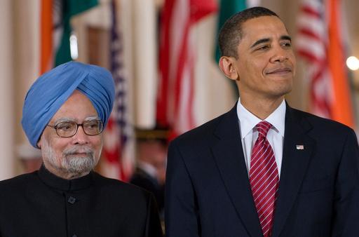 「インドは不可欠のパートナー」、米印首脳会談後にオバマ大統領