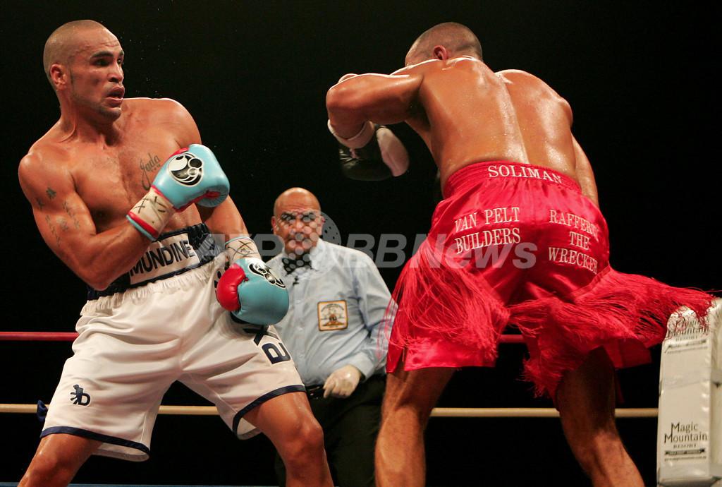<ボクシング>ムンディン ソリマンをKOで降しWBAスーパーミドル級のタイトルを獲得 - オーストラリア