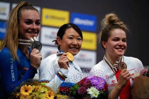 梶原悠未が女子オムニアムで金メダル、トラック世界選手権