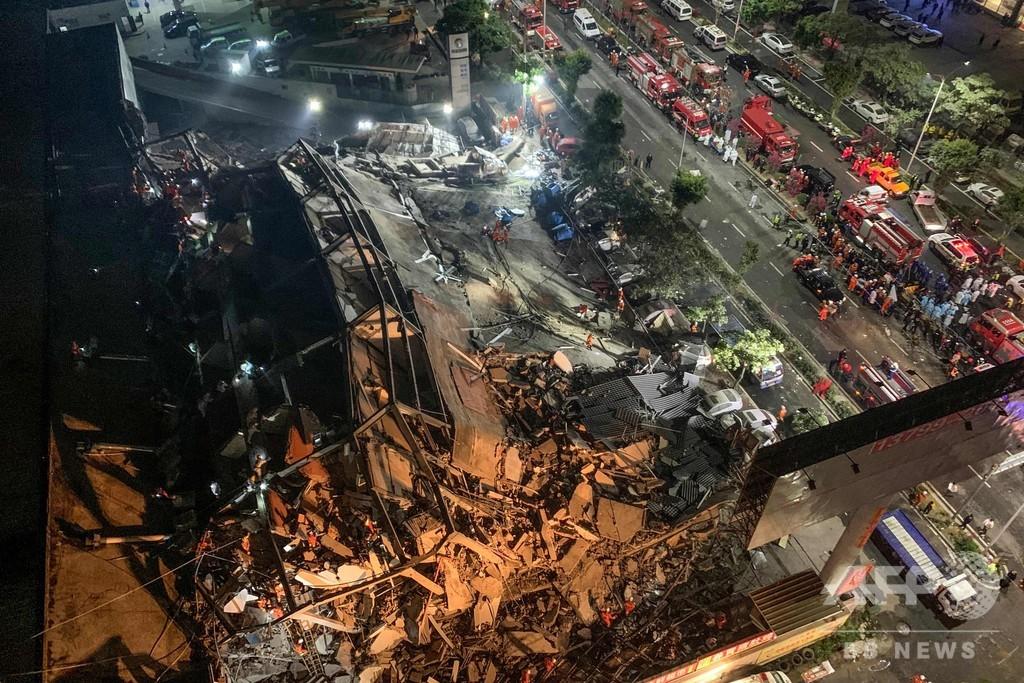 ホテル倒壊で約70人閉じ込め、新型ウイルスの隔離施設に転用 中国