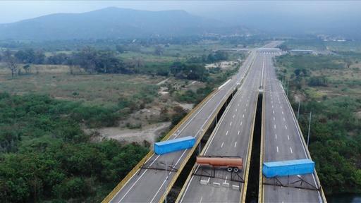 動画:ベネズエラ軍が橋を封鎖、人道支援物資の搬入を阻止へ