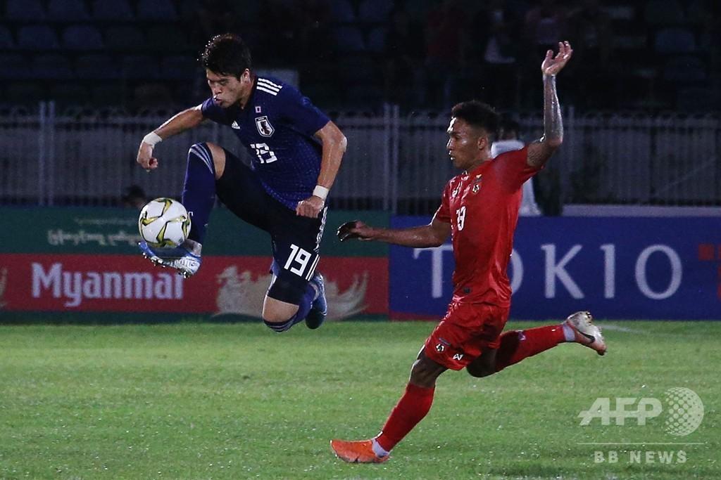 日本がW杯アジア2次予選で白星発進、敵地でミャンマー下す