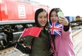英国と中国結ぶ初の貨物列車、復路便がロンドンを出発