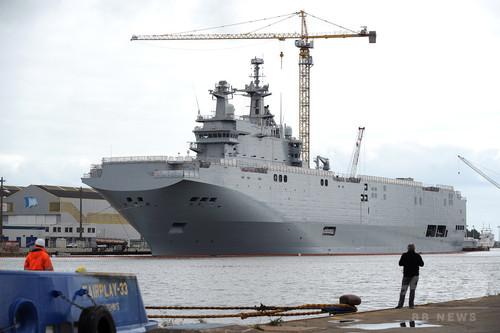 フランス、強襲揚陸艦のロシアへの引き渡しを延期