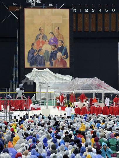 長崎で日本初の「列福式」、キリスト教徒3万人が参列