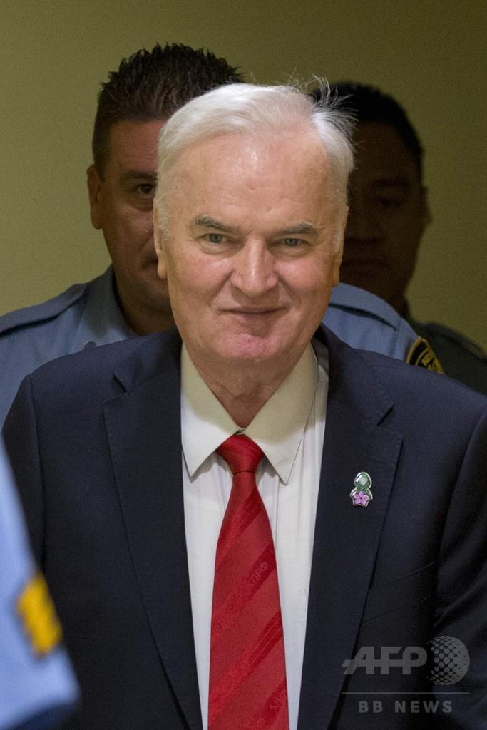 「ボスニアの虐殺者」ムラディッチ被告に終身刑、旧ユーゴ法廷
