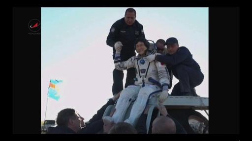 動画:宇宙飛行士の金井さん帰還 ISSに168日滞在