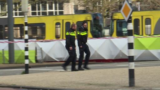 動画:オランダ銃撃、容疑者を逮捕 死者3人、テロの可能性 現場の映像