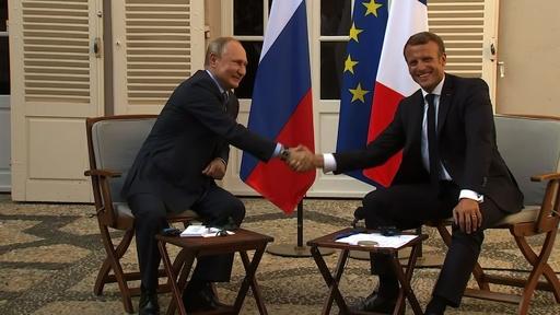 動画:仏ロ首脳が会談、ウクライナ和平に前向き シリア情勢では対立