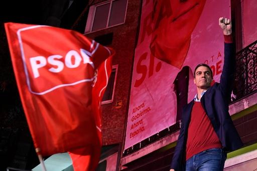 スペイン総選挙、極右が第3政党に躍進 与党は過半数届かず