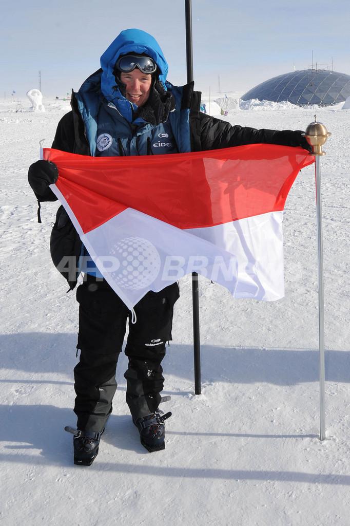 モナコ元首が南極点に到達、国家元首としては世界初