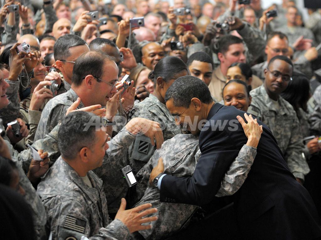 オバマ米大統領、アフガニスタンへ支援部隊1万3000人追加増派