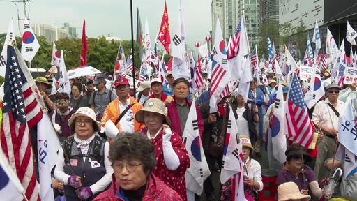 動画:朴槿恵前大統領の支持者ら、ソウルの最高裁前で釈放求めるデモ