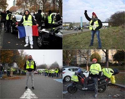 【写真特集】「ジレ・ジョーヌ(黄色いベスト運動)」に参加する人々