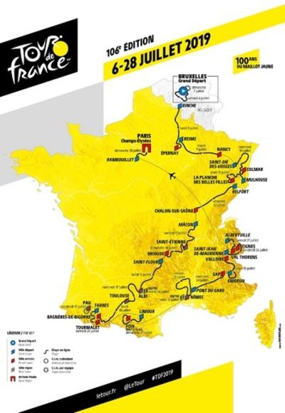 19年ツール・ド・フランスのコース発表、待ち構えるは史上最多の山越え