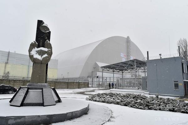 チェルノブイリ原発、巨大な新シェルター公開 ウクライナ