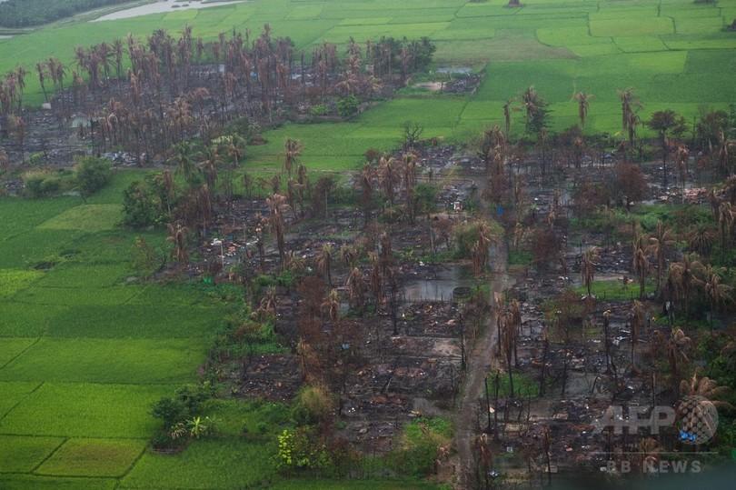 ミャンマー軍のロヒンギャ掃討、1か月で6700人殺害 多数の子どもも