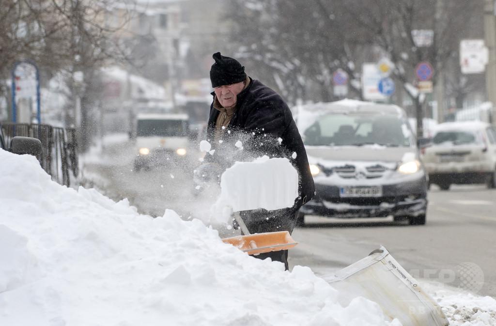 欧州に寒波襲来、移民やホームレス含む23人死亡