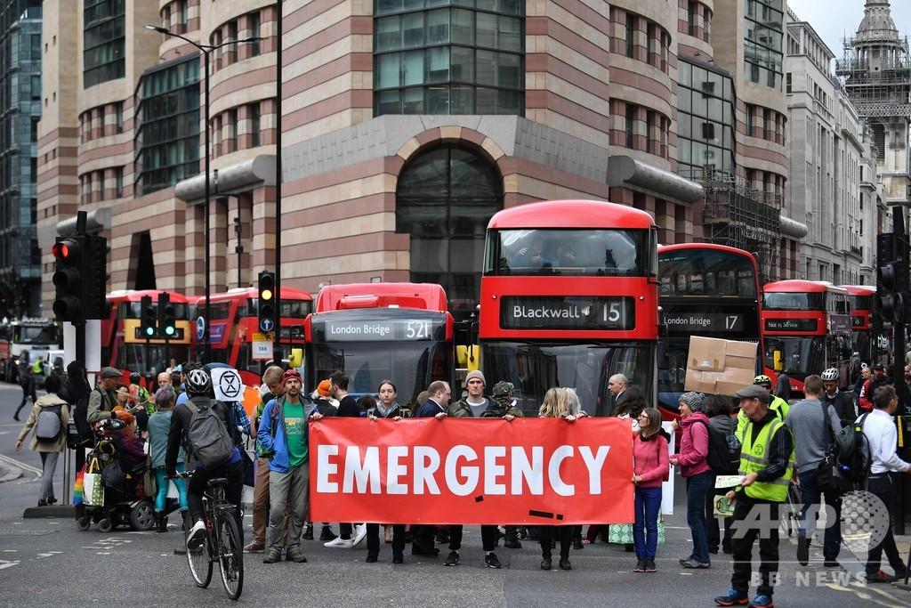 英ロンドンを混乱させた「絶滅への反逆」デモ、11日後に幕