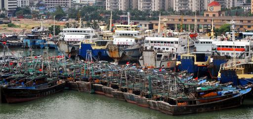 台風21号、南シナ海で漁船3隻沈没 新華社