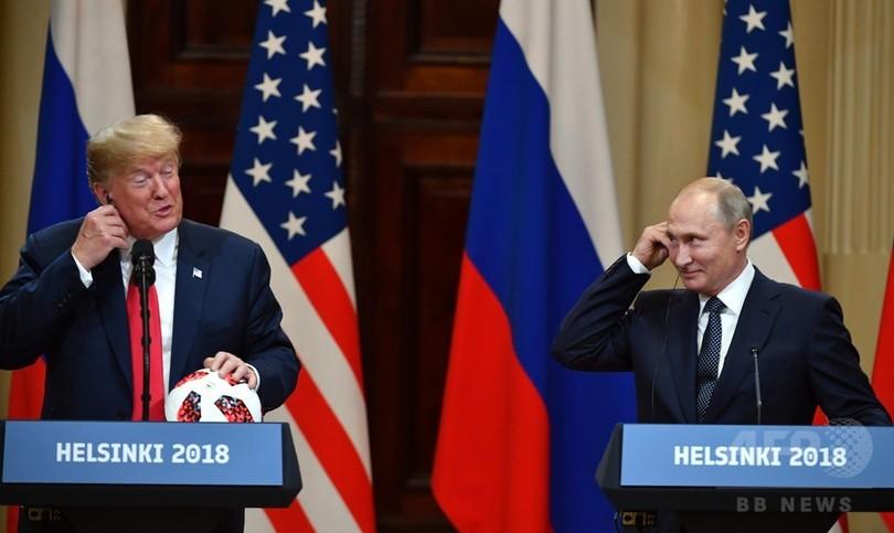 プーチン大統領、トランプ氏をベタ褒め 「資質があり物事に精通」
