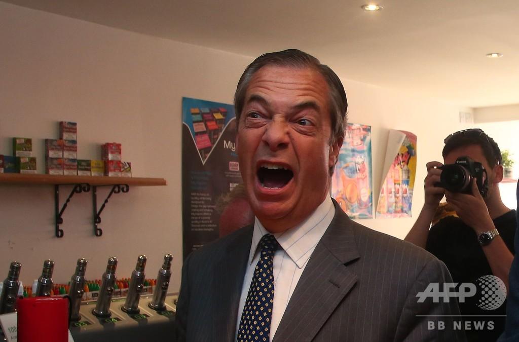EU離脱派の政治家らに「ミルクセーキ抗議」頻発、英