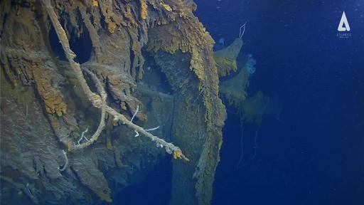 動画:タイタニック号の残骸、14年ぶりに撮影 腐食進む