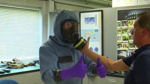 動画:化学兵器の廃棄目指し20年のOPCW、研究所内の映像